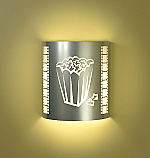 Popcorn Theater Silver Sconce (with filmstrip)