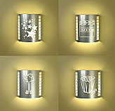Four or More Silver Home Theater Sconces (with Filmstrips)