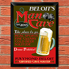 New Personalized Man Cave and Tavern Sign