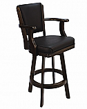 Backed Barstool with Arms and Swivel