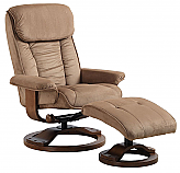 Mac Motion Comfort Euro Recliner and Ottoman in Mocha Microfiber (Model 7151)