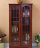 Window Pane Media Cabinet - Cherry