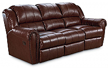 Lane Home Theater Summerlin Reclining Sofa Quick Ship Leather Match