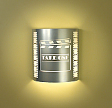 """Take One"" Clapboard Silver Theater Sconce (with filmstrip)"