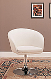 Coaster Swivel Accent Chair in White