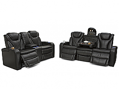 Barcalounger Colima Multimedia Sofa and Loveseat