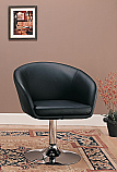 Coaster Swivel Accent Chair in Black