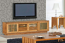 "82"" Contemporary Rustic TV Stand Media Console"