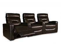 Casey Home Theater Seating in Dark Brown