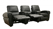 Moondance Black Home Theater Seating – Row of 3