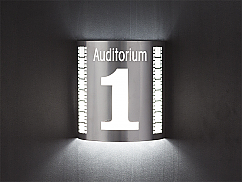 Auditorium 1 Theater Silver Sconce (with filmstrip)