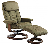 Mac Motion Comfort Euro Recliner and Ottoman in Sage Microfiber (Model 7151)