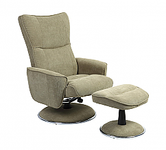 Mac Motion Euro Recliner and Ottoman in Avocado (Model 838)
