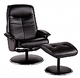 Special Sale Recliner and Ottoman - Onyx