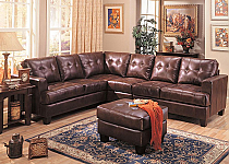 The Samuel Collection Brown Sectional