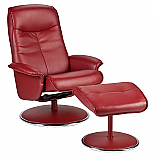 Special Sale Recliner and Ottoman - Brick Red