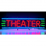 Theater Sign in Red, Green, and Blue