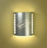 """Admit One"" Silver Theater Sconce (with filmstrip)"