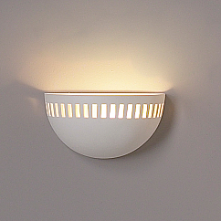 """9.5"""" Bowl Sconce w/ Contemporary Cut Out Pattern"""