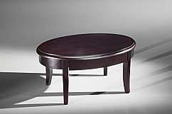 Classic Modern Coffee Table in Brazilian Cherry Veneers and Solids with a Wenge Finish