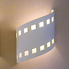 "9"" Contemporary Ribbon Wall Sconce with Filmstrip Pattern"