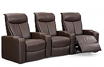 Estella Home Theater Seating in Brown