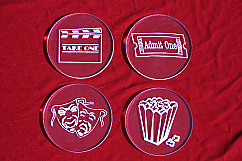 Acrylic Home Theater Coaster Set