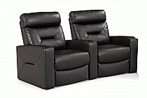 Casey Home Theater Seating in Black