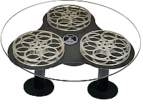 "Paramount Limited Edition Triple 42"" Film Reel Coffee Table"