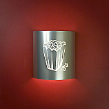 Popcorn Theater Silver Sconce (without filmstrip)