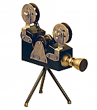 Vintage Movie Reel Camera Display