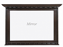 Bar Mirror with Built-in Stemware Holders