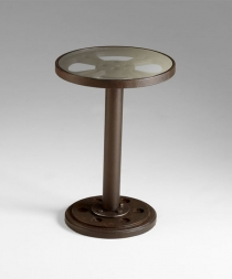 Medium Size Reel Side Table in Bronze Finish