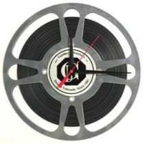 Movie Reel Clock with Film 10 1/2""