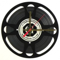 Movie Reel Clock with Film 9 1/4""
