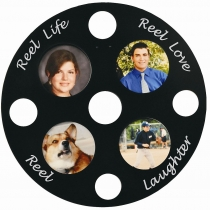 Movie Reel Flange Picture Frame 23 3/4""