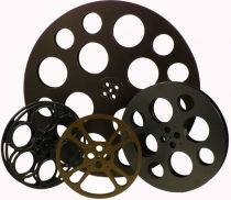 Theatre Set Rustic: Set of 4 Film Reels