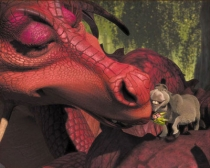 """Love"" Donkey & Dragon"