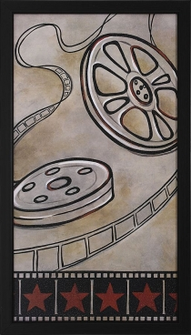 Film Reel Framed Theater Wall Art