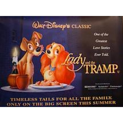 The Lady and the Tramp (Re-Issue) (British Quad) Movie Poster