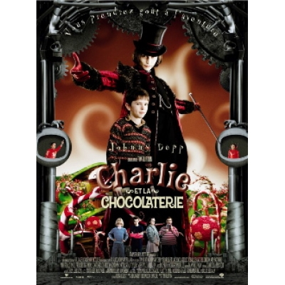 Charlie and the Chocolate Factory  2005 - Large - French  Movie Poster    Charlie And The Chocolate Factory Movie Poster