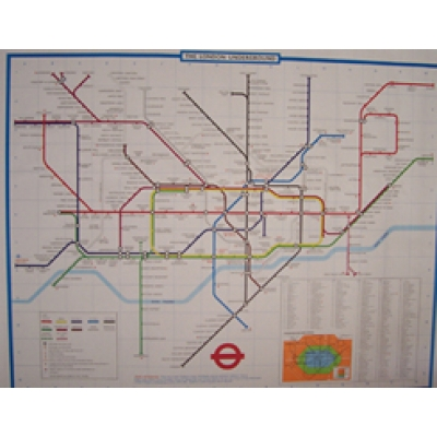 LONDON UNDERGROUND MAP (ORIGINAL STATION MAP - NOT A REPRINT!) Poster