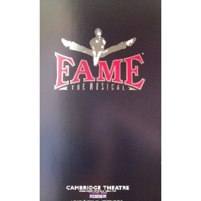 Fame: the Musical (Original London Theatre Window Card)