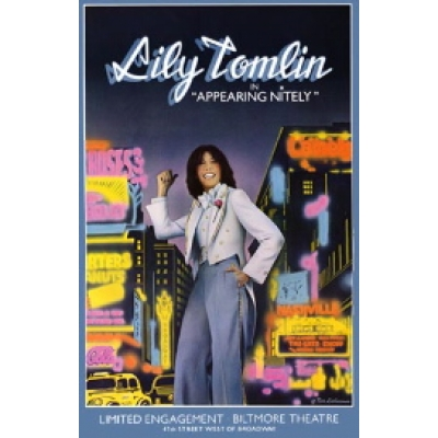 Lily Tomlin in Appearing Nightly (Original Broadway Theatre Window Card)