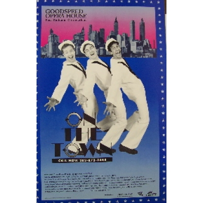 On the Town (Original Theatre Window Card)
