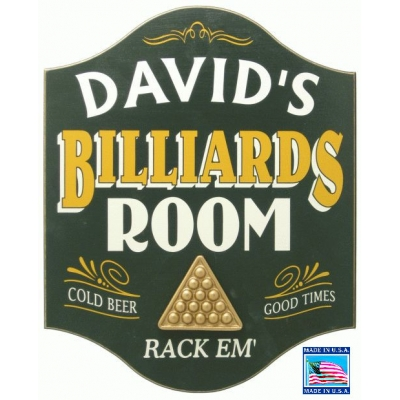 Billiards Room Personalized Pool Sign