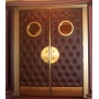 Cognac Panel with Circle Mirror