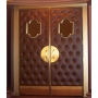 Cognac Panel with Keyhole Mirror