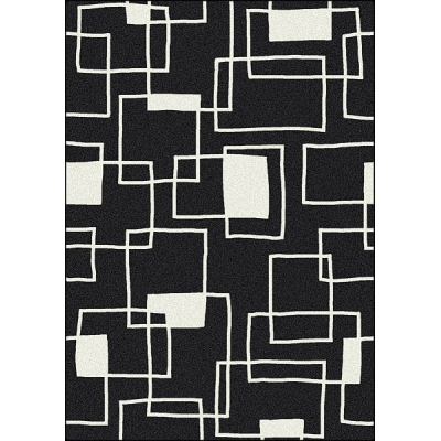 Offbeat Black Box Area Rug