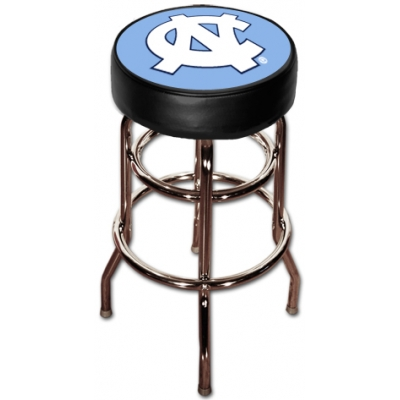 Remarkable North Carolina Tarheels Double Rung Chrome Bar Stools Unemploymentrelief Wooden Chair Designs For Living Room Unemploymentrelieforg